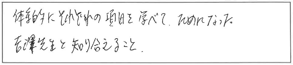 吉澤塾 半年コースの参加者の声画像88
